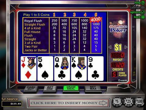 online slot games poker american