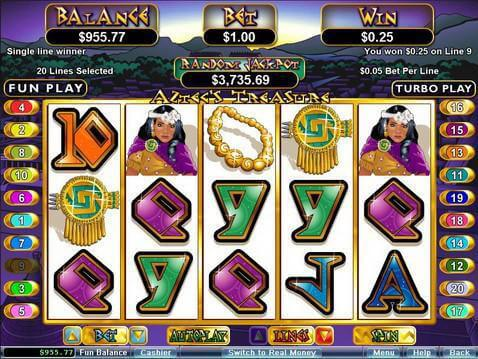 Aztec's Treasure Casino Game screenshot 2