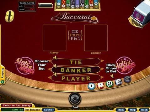 how to play baccarat online