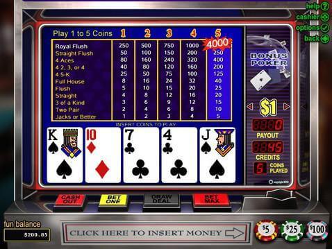 Casino Games Online Bonus