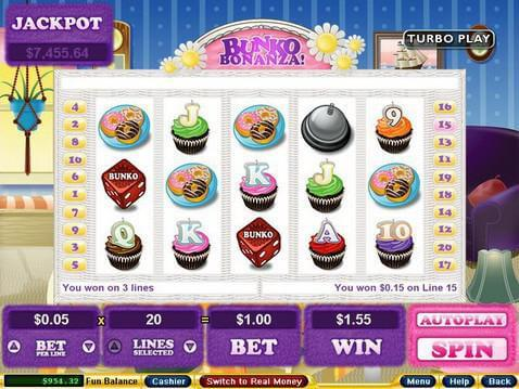 Bunko Bonanza Casino Game screenshot 2