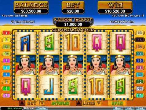 Cleopatra's Gold Casino Game screenshot 2