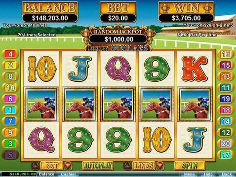 Derby Dollars Casino Game screenshot 2