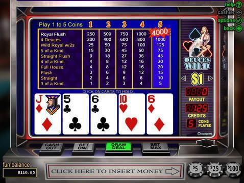 Deuces Wild Casino Game screenshot 2