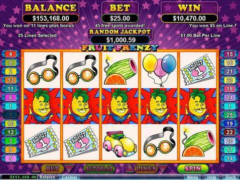 Fruit Frenzy Casino Game screenshot 2