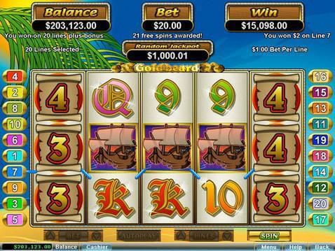 Goldbeard Casino Game screenshot 2