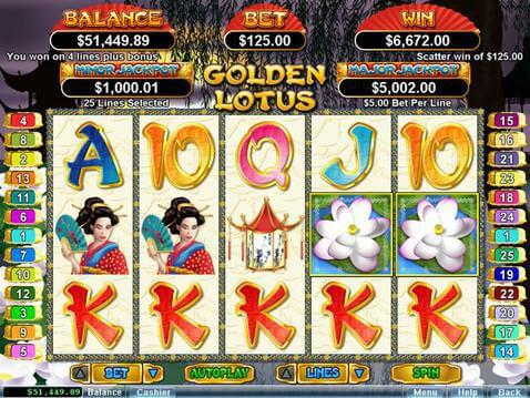 Golden Lotus Casino Game screenshot 2