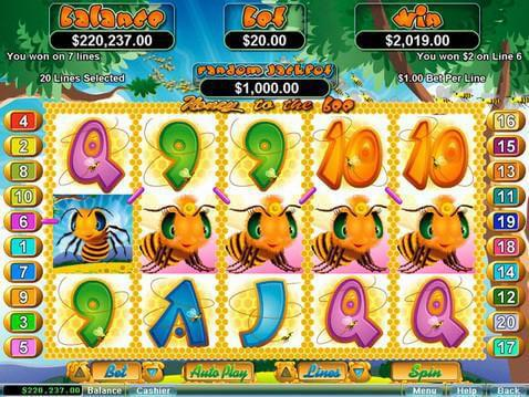 Honey to the Bee Casino Game screenshot 2