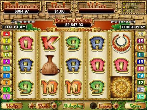 Incan Goddess Casino Game screenshot 2
