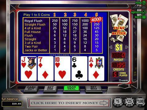 Jacks or Better Casino Game screenshot 2