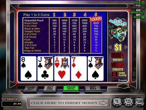 casino games joker