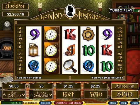 London Inspector Casino Game screenshot 2
