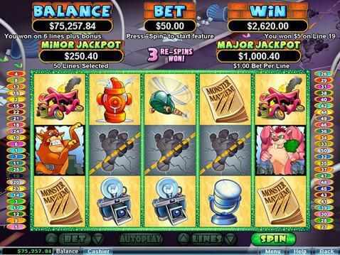 Monster Mayhem Casino Game screenshot 2