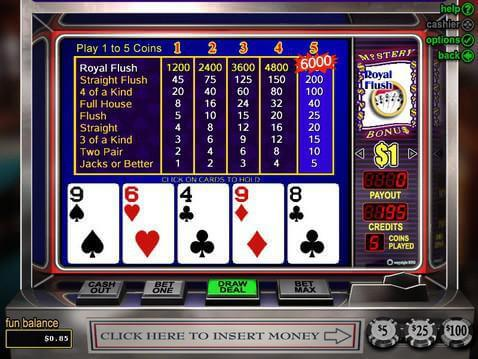 Mystery Bonus Poker Casino Game screenshot 2