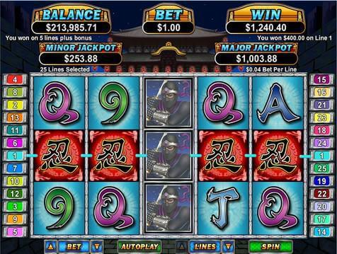 Ninja Star Casino Game screenshot 2