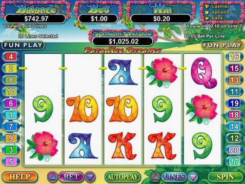Paradise Dreams Casino Game screenshot 2