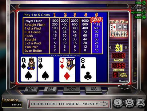 Pick'em Poker Casino Game screenshot 2