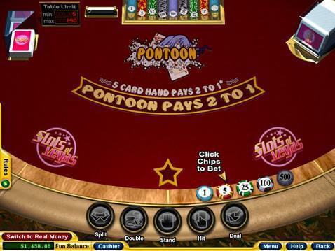 Pontoon Casino Game screenshot 2