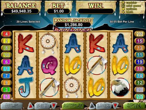 Rain Dance Casino Game screenshot 2