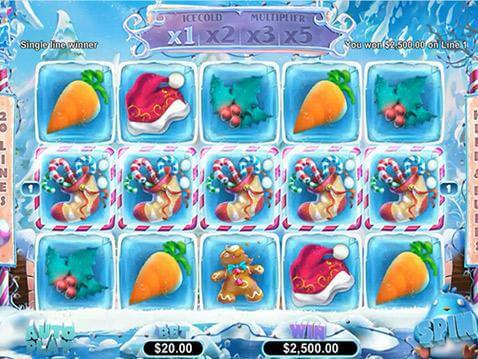 Snowmania Casino Game screenshot 2