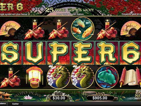 Super 6 Casino Game screenshot 2