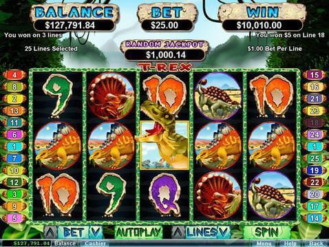 Slot machines t-rex casino werkgelegenheid