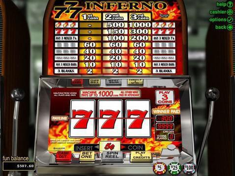 Triple 7 Inferno Casino Game screenshot 2