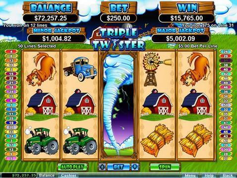 Triple Twister Casino Game screenshot 2