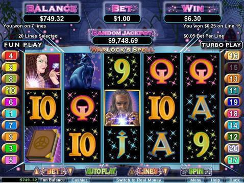 Warlock's Spell Casino Game screenshot 2
