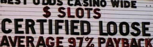 What is the average slot payout percentage online?