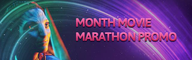 Now Featuring: Promo of the Month – Movie Marathon!